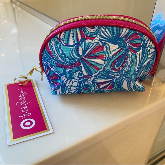 Lilly Pulitzer for Target Handbags - NWT Lilly Pulitzer for Target My Fans Cosmetic Bag